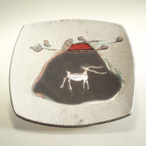 Raku Dish by Jose Drouin