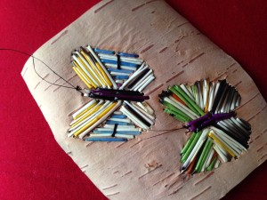Butterfly quill work